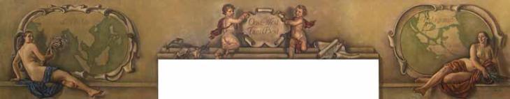 Horizontal panel for Manoir du Relais. Alexander & Zinaida Serebriakova (1936-1937)