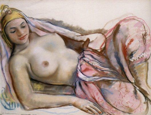 Reclining woman. (Etude de femme Hadija) Marrakech. (1932). Reclining nude ...
