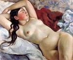 Reclining nude (Portrait of Nevedomskaya) (1935)