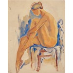 Sitting nude (1920s)