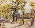 Luxembourg Gardens. Paris. (1930)