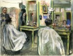 At a hairdresser (end 1920s)