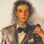 Portrait of Dmitri Bushin. (1922)