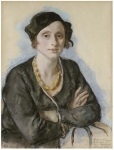 Portrait of Ekaterina Cavos-Hunter, the artist's cousin. (1931)