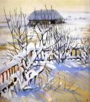 Winter landscape. Neskuchnoye. (1910)