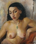 Nude with pendant