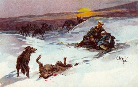 Stragglers, by Alexander Apsit.