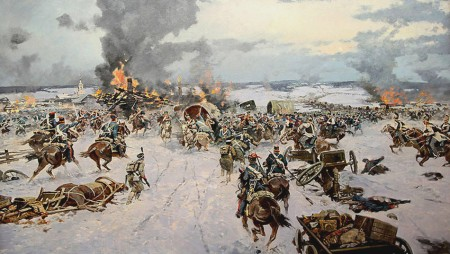 Battle of Berezina, by Oleg Avikemyan.