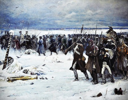 French retreat from Russia, by Alexander Chagadayev.