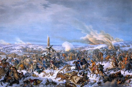 French retreat across the Berezina, 17 November 1812, by Peter von Hess.