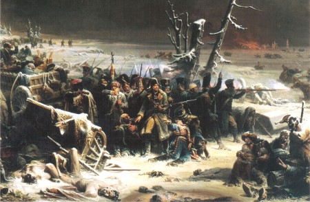 Marshal Ney's soldiers driven into the woods, by Adolphe Yvon.