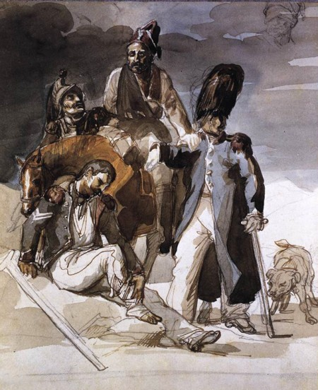 Retreat from Russia, by Théodore Géricault.