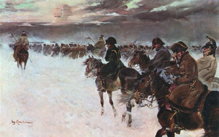 Retreat of Napoleon from Russia, by Jerzy Kossak.