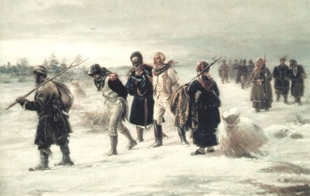 The captured French, by Illarion Pryanishnikov.(1873).
