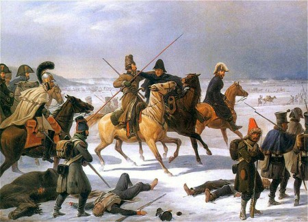 Retreat of the French from Moscow, by Yanuarii Sukhodolsky.