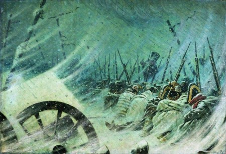 Night bivouac of the Grand Army, by Vasily Vereshchagin.