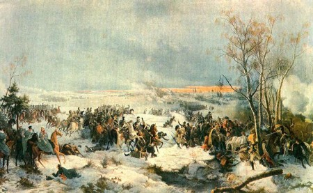 Batte of Krasnoy, 17 November 1812, by Peter von Hess.