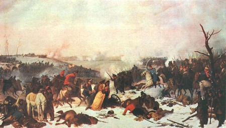 Ney's breakthrough at the Battle of Losmine, 18 November 1812, by Peter von Hess.
