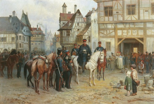 Blucher and Cossacks at Bautzen. (1885).
