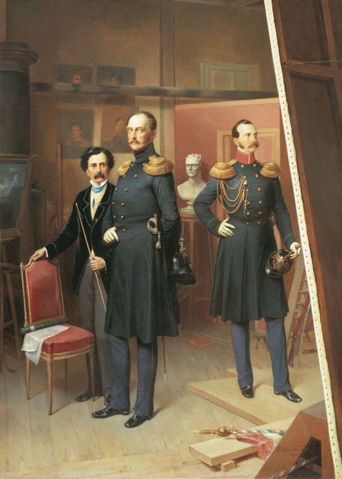 Czar Nicholas and Crown-Prince Alexander in the artist's studio, 1854.