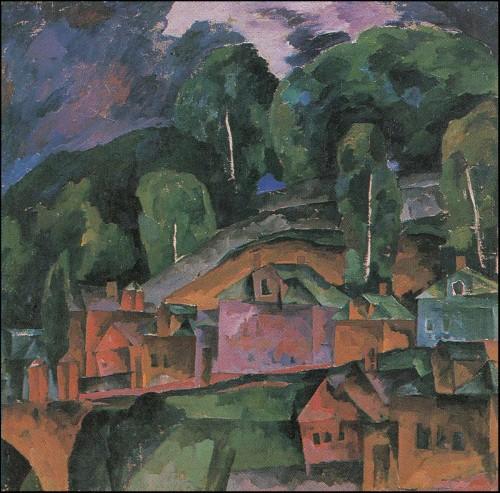Landscape. Dachas. (1920-21).