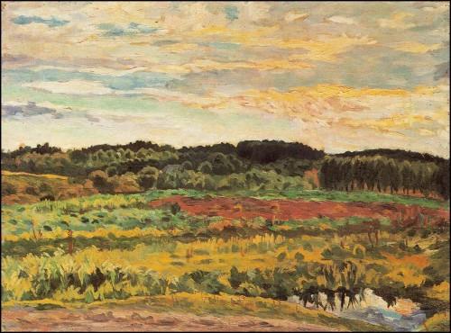 Evening landscape. (1923).