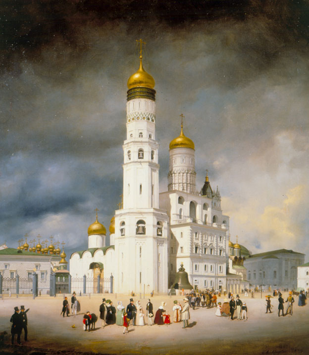 Ivanovsky Square in the Kremlin, by Eduard Gärtner (1801-77). (1839).