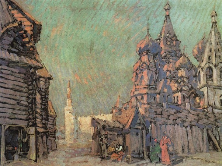 Red Square in Moscow, by Konstantin Korovin. (1910).