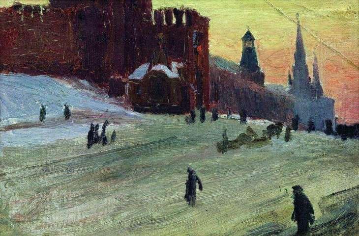 Red Square, by Boris Kustodiyev.