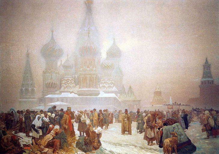 The abolition of serfdom in Russia in 1861, by Alphonse Mucha (1860-1939). (1914).