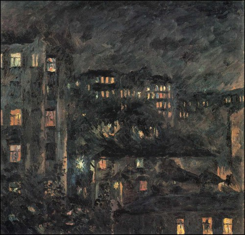 Night on the Bronny. Moscow landscape. (1927).