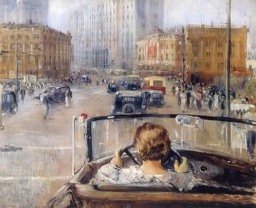 New Moscow, by Yuri Pimenov. (1937).