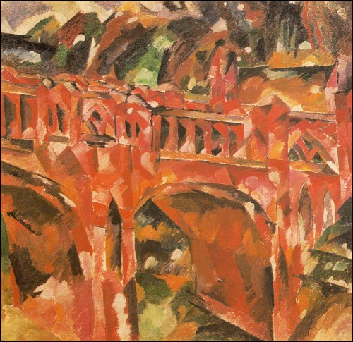 Red bridge. (1918).