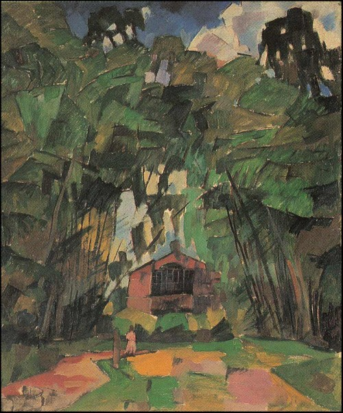 Landscape with red house. (1918).