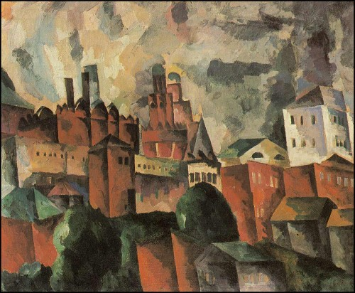 Landscape with red tower. (1920).
