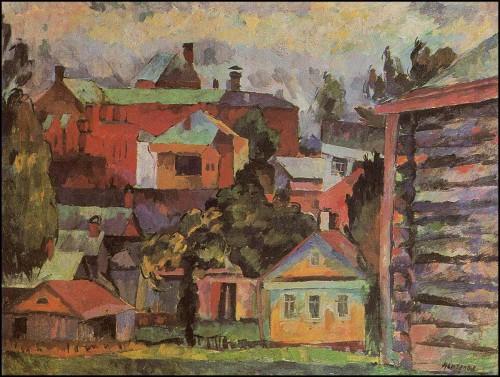 Landscape with a Woodshed. Sergiev Posad. (1922).
