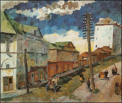 Street in Sergiev Posad. (1922).