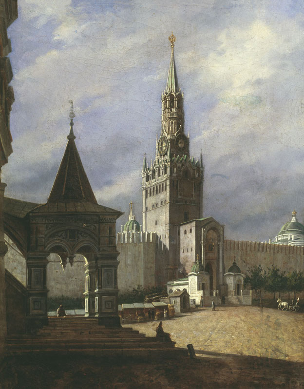 View onto the Red Square, by Stepan Shukhvostov (1821-1908).