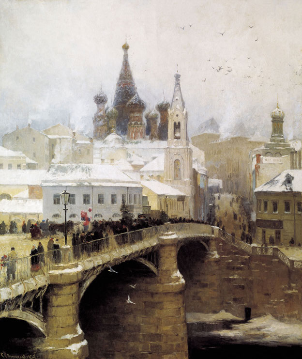 Moskvoretsky bridge, by Sergei Svetoslavsky (1857-1931). (1878).