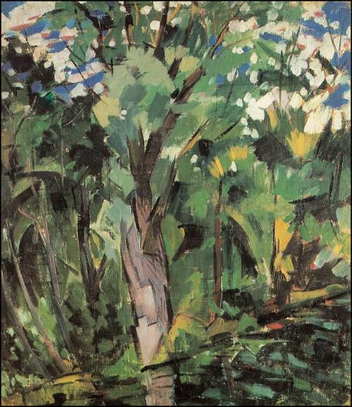 Trees. Klyazma. (1918).