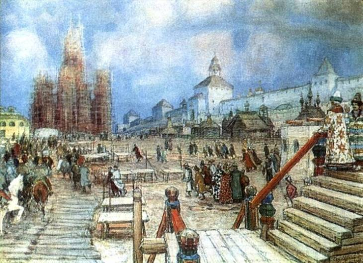 Red Square, by Apollinary Vasnetsov. (1902).