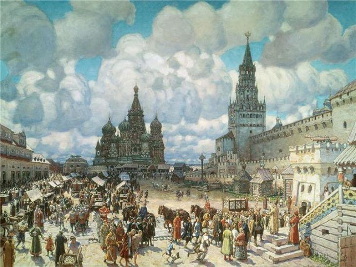 Red Square in the time of Ivan, by Apollinary Vasnetsov.