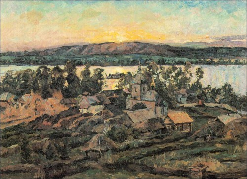Sunset over the Volga. (1928).