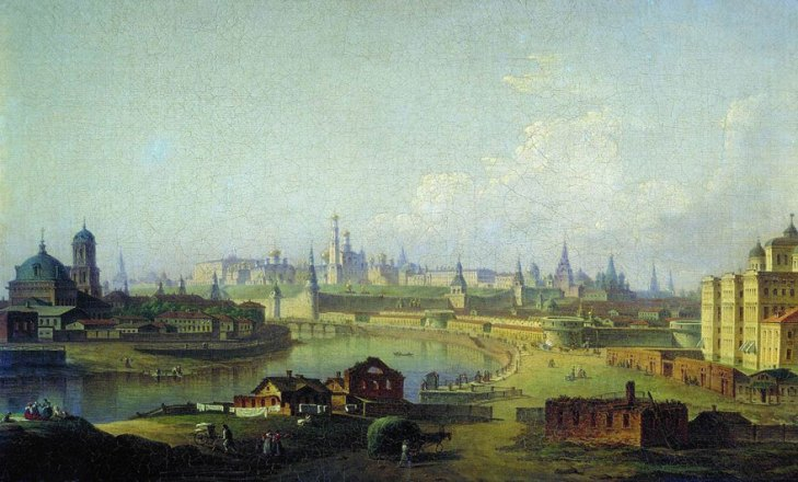 View of the Kremlin from Ustyinsky bridge, by Maxim Vorobyov (1787-1855). (1818).