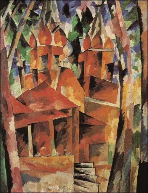 Wooden church. (1916).