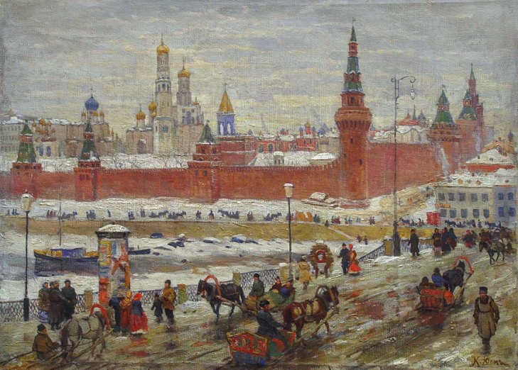 Old Moscow, by Konstantin Yuon (1875-1958).