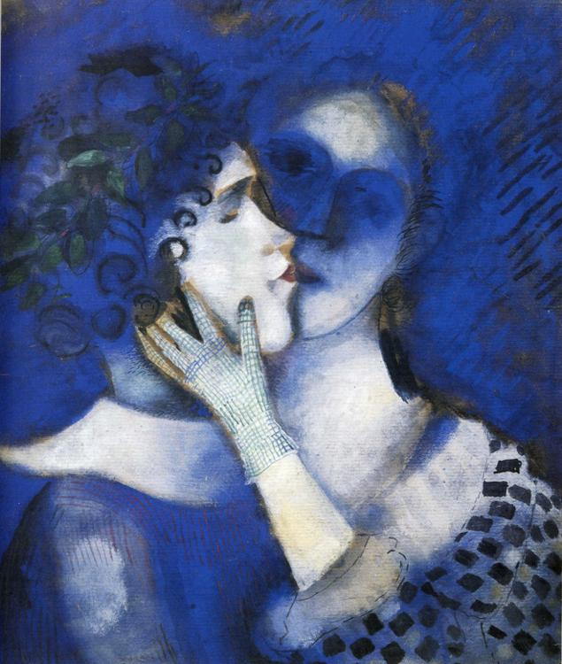 Lovers in Blue, by Marc Chagall. (1914).