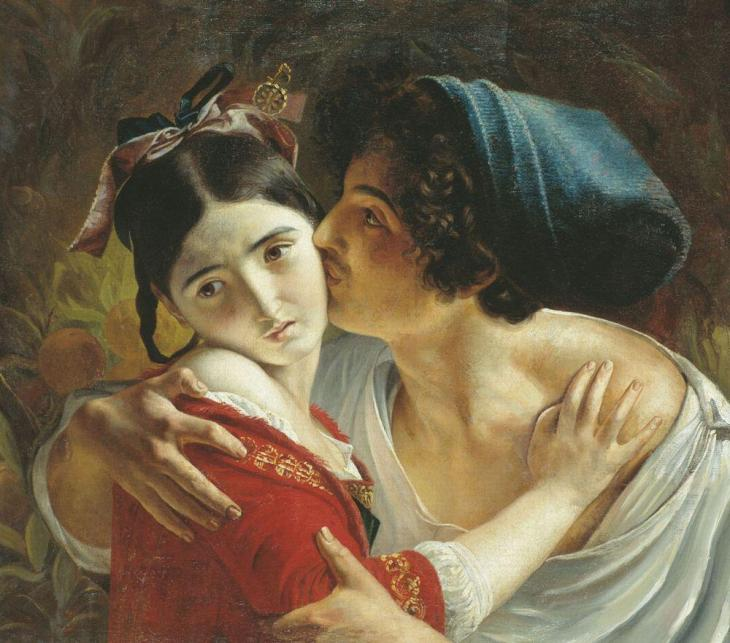 The Kiss, by Fyodor Moller. (1840).