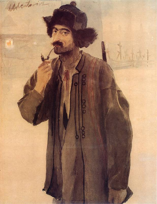 Self-portrait, by Teodor Axentowicz. (1888).
