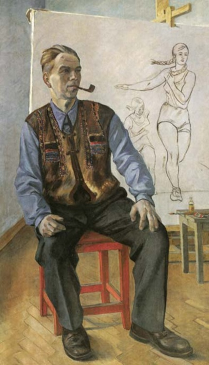 Portrait of Konstantin Vyalov, by Alexander Deyneka. (1942).
